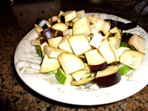Precooked Eggplant and Zucchini