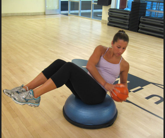 Stability Ball Russian Twist: Treble In The Kitchen